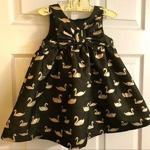 Cat & Jack Golden Swan Dress 2T